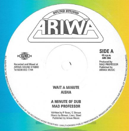Aisha - Wait A Minute / Mad Professor - A Minute Of Dub / Rasta Interpreter! (Ariwa) UK 12""